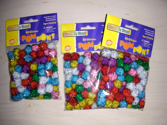 Sparkly pompons