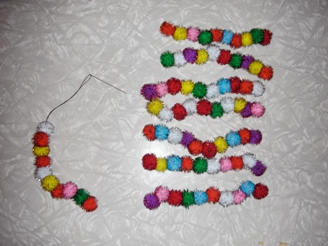 Stringing Pompons