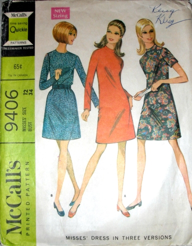 Pattern McCall's 9406 from 1968