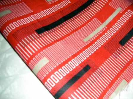 Fabric: geometric, striped cotton