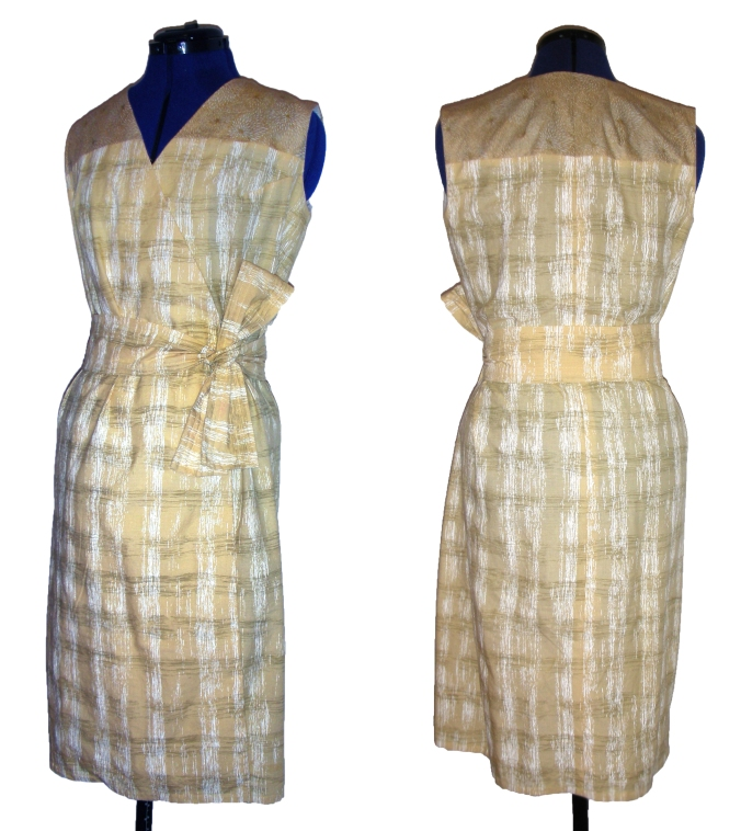 Yellow Wrap Dress Front and Back