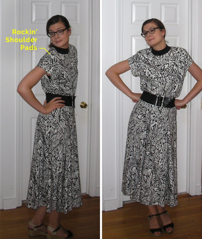 Thrift Store Couture: 2-Piece 80s Dress